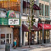 City - Roanoke Va - Down One Fine Street  Print by Mike Savad