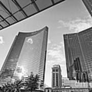 Citycenter - View Of The Vdara Hotel And Spa Located In Citycenter In Las Vegas  Print by Jamie Pham