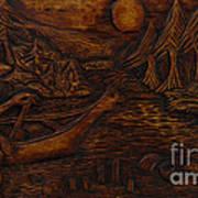 Clatsop Coyote God Italapas Print by Carlo Olkeriil