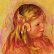 Claude Renoir Print by Pierre Auguste Renoir