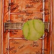 Clay Courters Print by Elaine Duras
