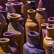 Clay Vases Print by Garry Gay