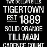 Clemson College Town Wall Art Print by Replay Photos