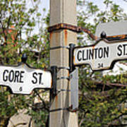 Clinton And Gore Print by Andrew Fare