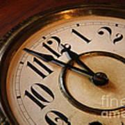 Clock Face Print by Johan Swanepoel