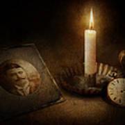 Clock - Memories Eternal Print by Mike Savad