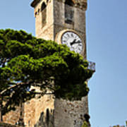 Clock Tower - Cannes - France Print by Christine Till