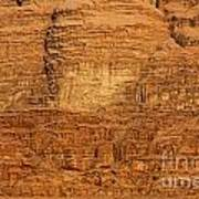 Close Up Of A Rocky Outcrop At Wadi Rum In Jordan Print by Robert Preston