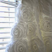 Close-up Of Flower Wedding Dress Print by Mike Hope