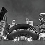 Cloud Gate And Skyline Print by Adam Romanowicz