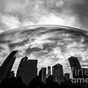 Cloud Gate Chicago Bean Print by Paul Velgos