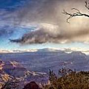 Clouds Over Canyon Print by Lisa  Spencer