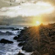 Coastal Sunrise Print by Tom York Images