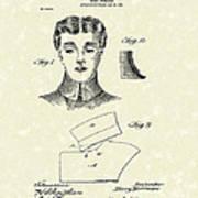 Coat Collar 1904 Patent Art Print by Prior Art Design