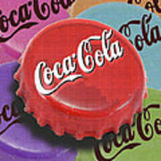 Coca-cola Cap Print by Tony Rubino