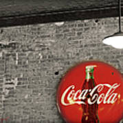 Coke Cola Sign Print by Paulette B Wright