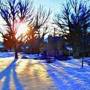 Cold Morning Sun Print by Jeff Kolker
