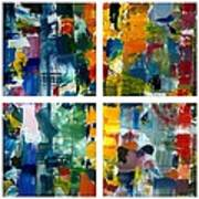 Color Relationships Collage Print by Michelle Calkins