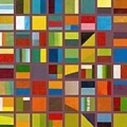 Color Study Collage 65 Print by Michelle Calkins
