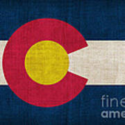 Colorado State Flag Print by Pixel Chimp