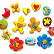 Colorful Cookies Print by Carlos Caetano