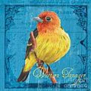 Colorful Songbirds 4 Print by Debbie DeWitt