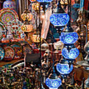 Colorful Traditional Turkish Lights  Print by Leyla Ismet