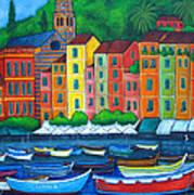 Colours Of Portofino Print by Lisa  Lorenz