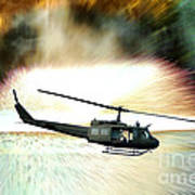 Combat Helicopter Print by Olivier Le Queinec