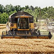 Combine Harvester Print by Georgia Fowler