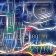 Computing - Fractalius Print by Steve Ohlsen