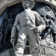 Confederate Soldier II Alabama State Capitol Print by Lesa Fine