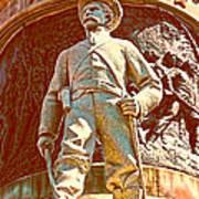 Confederate Soldier Statue I Alabama State Capitol Print by Lesa Fine