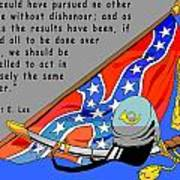 Confederate States Of America Robert E Lee Print by Digital Creation