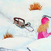 Cool  Winter Friend - Snowman - Fun Print by Barbara Griffin