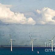 Copenhagen Wind Turbines Print by Joan McCool