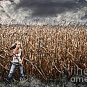 Corn Field Horror Print by Jt PhotoDesign