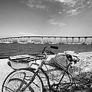 Coronado Bridge Bike Print by Peter Tellone
