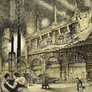 Coronation Evening London 1937 Print by Jack Coburn Witherop