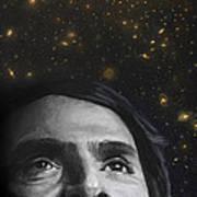 Cosmos- Carl Sagan Print by Simon Kregar