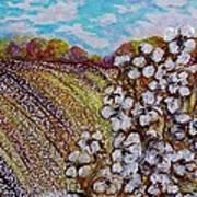 Cotton Fields In Autumn Print by Eloise Schneider