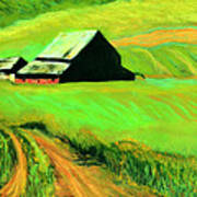 Country Barn Print by Charles Krause