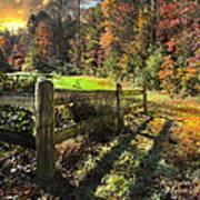 Country Dawn Print by Debra and Dave Vanderlaan