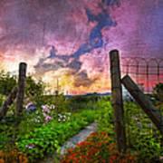 Country Garden Print by Debra and Dave Vanderlaan