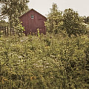 Covered Barn Print by Margie Hurwich