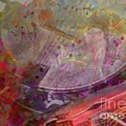 Creative Sounds Digital Banjo And Guitar Art By Steven Langston Print by Steven Lebron Langston
