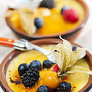 Creme Brulee Dessert Print by Elena Elisseeva
