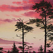 Crimson Sunset Splendor Print by James Williamson