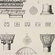 Cross Section And Architectural Details Of Kutciuk Aja Sophia The Church Of Sergius And Bacchus Print by D Pulgher