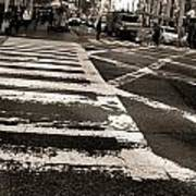 Crosswalk In New York City Print by Dan Sproul